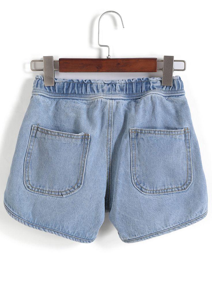 Shop Drawstring Waist Denim Shorts online. SheIn offers Drawstring Waist Denim Shorts & more to fit your fashionable needs.