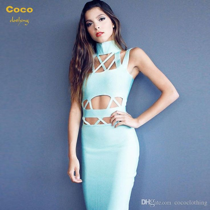 2016 European Spring Summer New Slim Halter Straps Sexy Backless Dress Bandage Dress Evening Dress H2101 Pageant Dresses Dresses Uk From Cococlothing, $97.11| Dhgate.Com