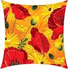 Poppy Flower Free Knitting Pattern