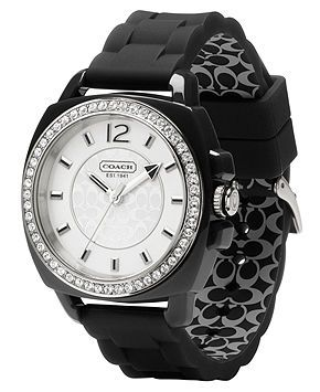 COACH BOYFRIEND SILICON RUBBER STRAP WATCH - All Watches - Jewelry & Watches - Macy's
