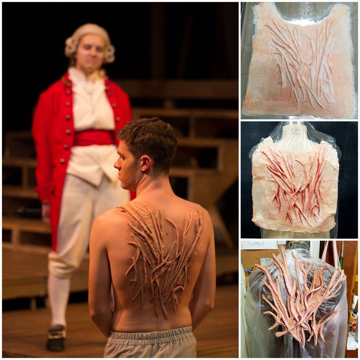 "Gustavus Adolphus College November 2017 ""Our Country's Good"" by Timberlake Wertenbaker Back Scarring Prosthetic for Sideway"