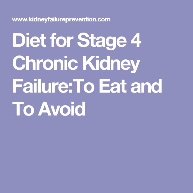 Foods To Eat With Stage  Kidney Disease