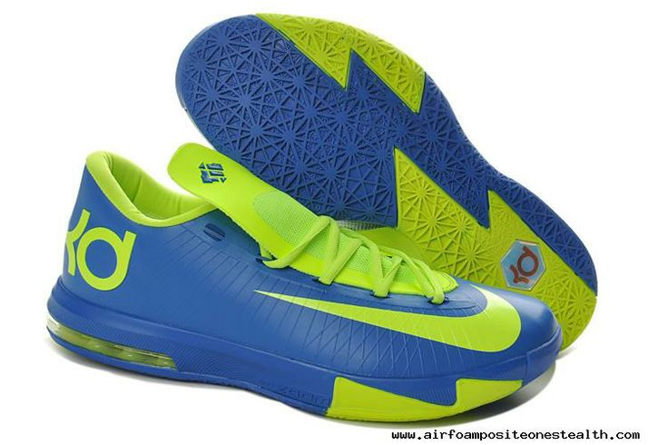 Womens Nike Zoom KD 6 Sprite Royal Blue Volt 599424-400 | Air Foamposite One Stealth | Pinterest | Kd 6, Nike Zoom and Royal Blue