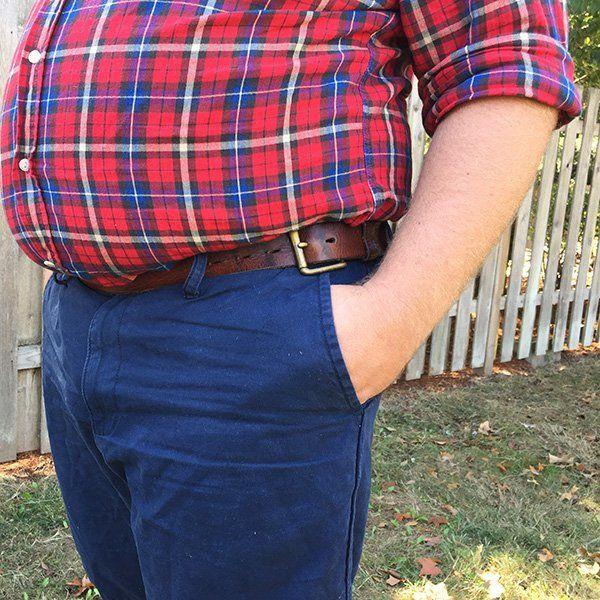 check shirt | big man | belt | red | fashion | 大きいサイズ | チェックシャツ | メンズファッション: