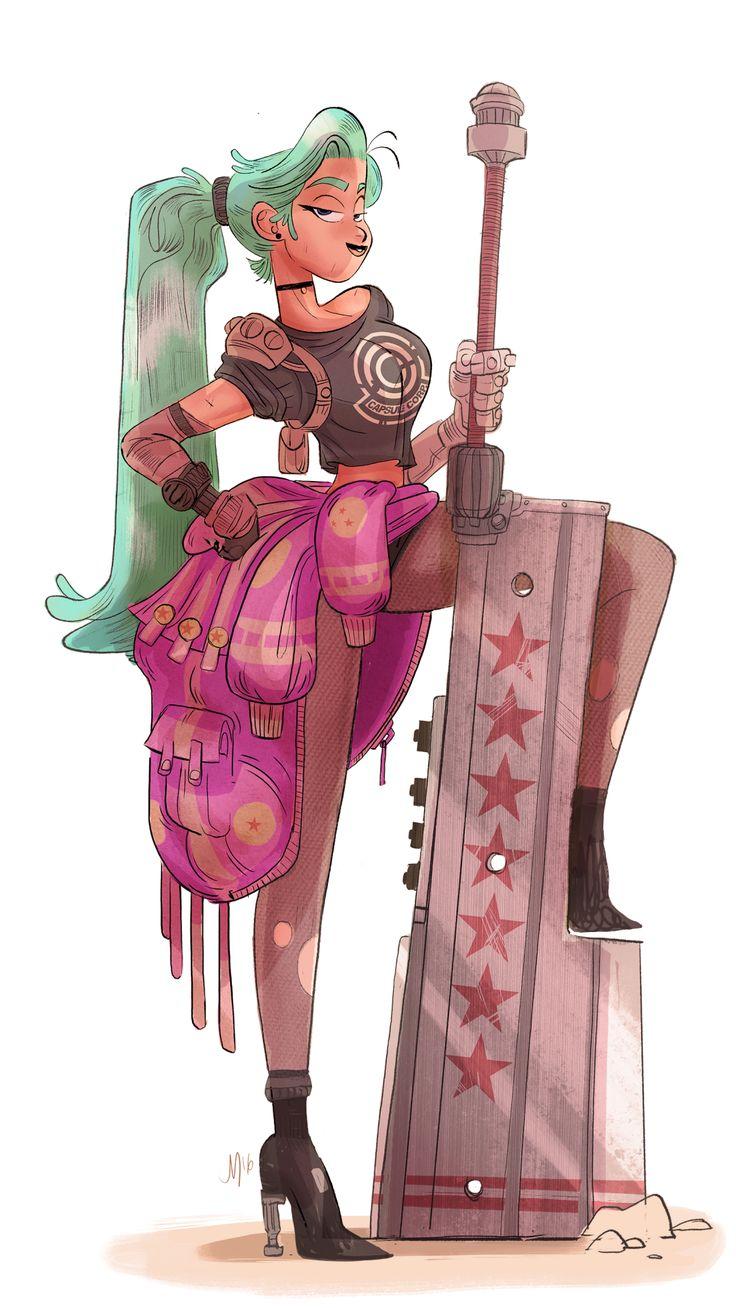 Pinup Arena • jasonmclean: Final Fantasy Bulma!