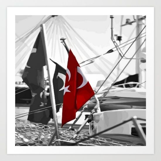 The flag of Turkey (Turkish: Türk bayrağı, meaning: Turkish flag) is a red flag featuring a crescent with a star. The flag is often called Al bayrak (the red flag) and referred to as Al sancak (the red banner) in the Turkish national anthem. <br/> The current design of the Turkish flag is directly derived from the late Ottoman flag, which had acquired its final form in 1844. The red represents the time of war they went through and how they survived. The star and crescent design appears on…