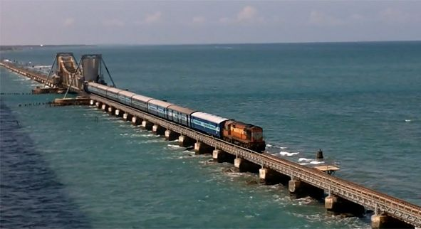 Ride Over the Sea with Indian Railways, Pamban Bridge in Rameswaram, Tamil Nadu