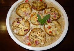 Aubergine met kokosmelk (oven) uit de Cariben
