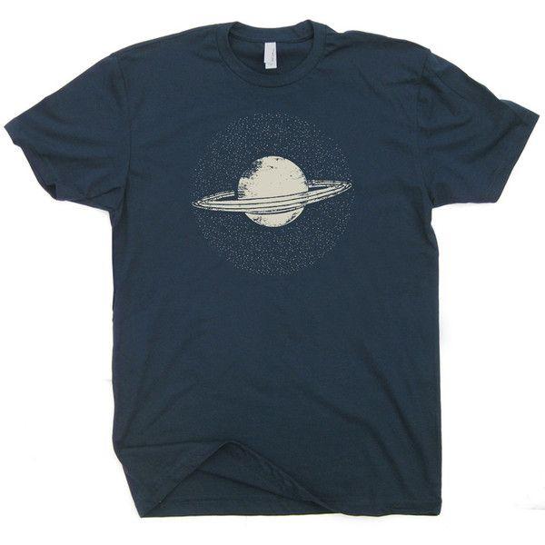 Saturn T Shirt Vintage Nasa T Shirt Geek T shirt Funny Saturn Planet T... (57 BRL) ❤ liked on Polyvore featuring tops, t-shirts, cotton t shirt, blue t shirt, nebula t shirt, vintage tees und galaxy print t shirt