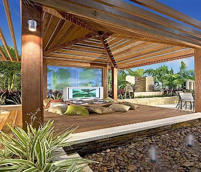 best 20 modern gazebo ideas on pinterest cabana outdoor cabana and contemporary outdoor structures - Gazebo Patio Ideas