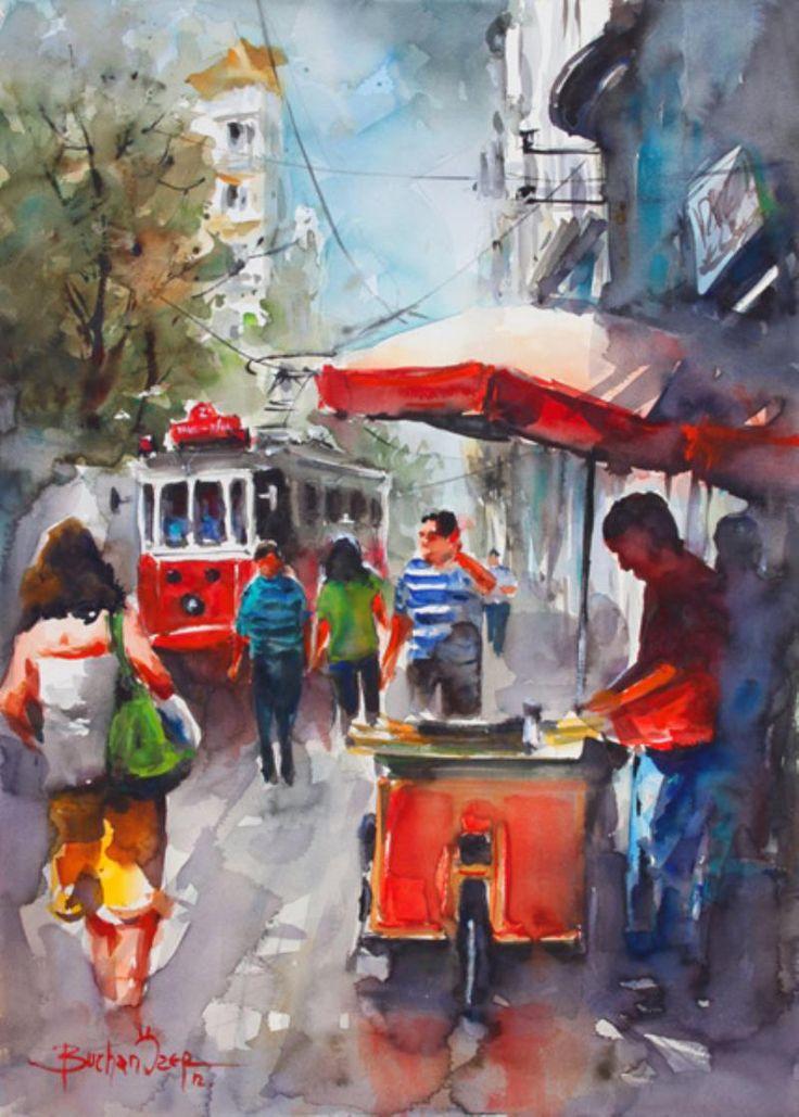 Turkish painter Burhan Özer