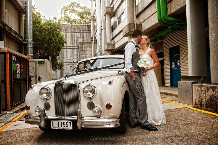 Brisbane Wedding Photographer Christopher Thomas Photography, wedding car