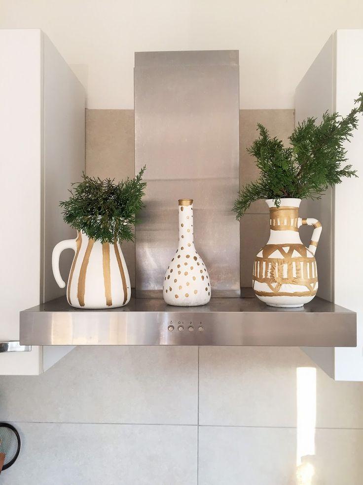 DIY: come trasformare brocche di vetro in vasi di ceramica / ChiccaCasa