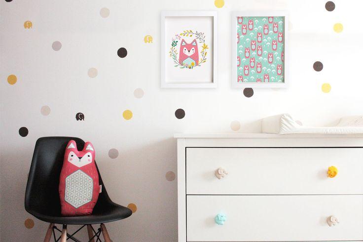FOX print set #cute #fox #illustration #design #wallart #kidsroom #decoration #nursery #print