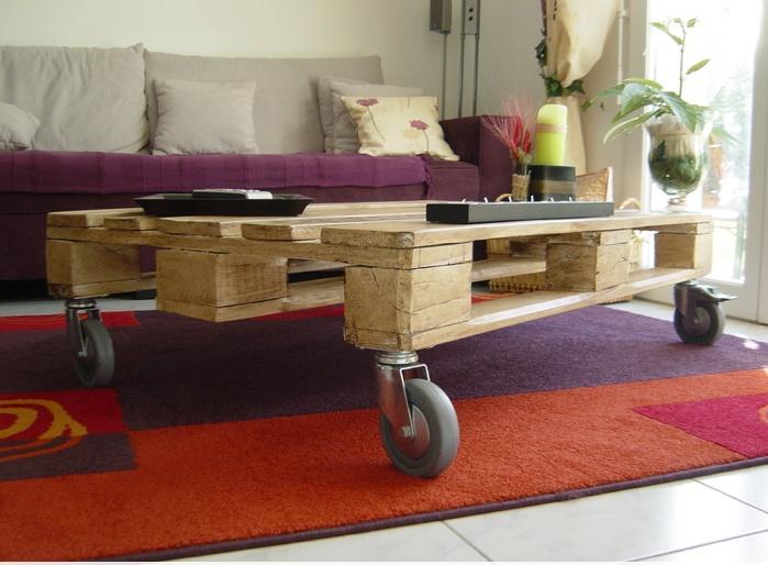table basse palette recup. Black Bedroom Furniture Sets. Home Design Ideas