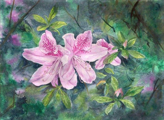 Azaelas-Watercolor-Art