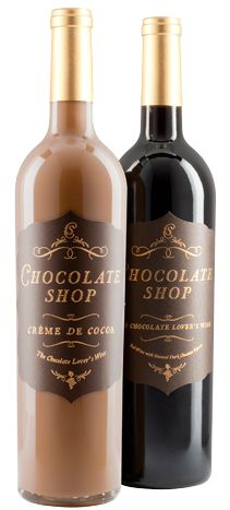 Nice idea for a unique gift for your event. Precept Wines created a combination of a fine red wine with natural dark chocolate in its Chocolate Shop wine ($10.99). Varieties include a ... Photo: Courtesy of Precept Wines