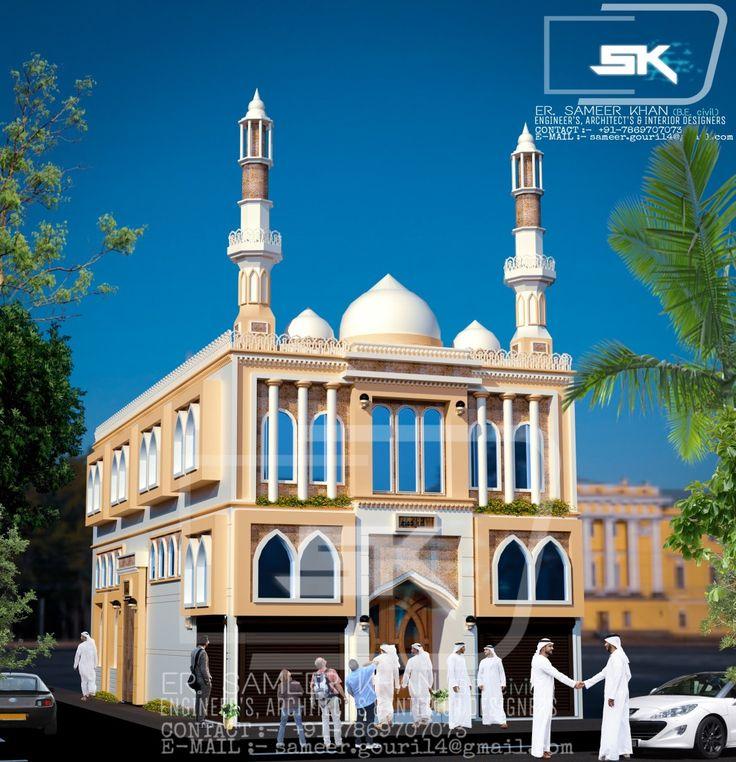 Desain Masjid Modern: Introducing Arabic Mosque Exterior Elevation Design With