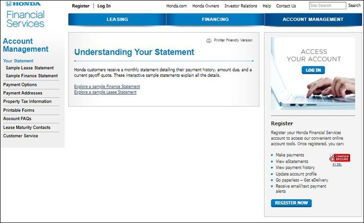 So read about how to access your honda financial services
