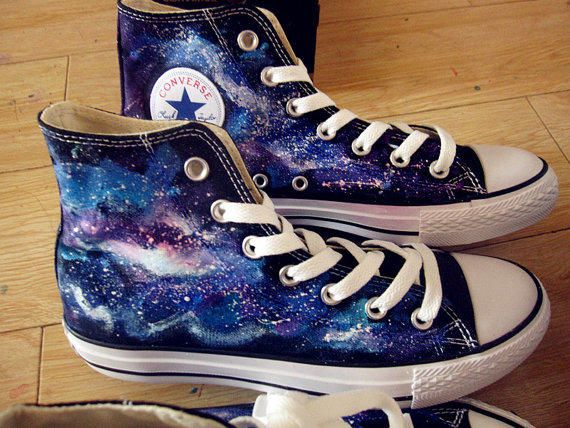 galaxy converse | galaxy converse Custom galaxy converse from paintedscanvas on