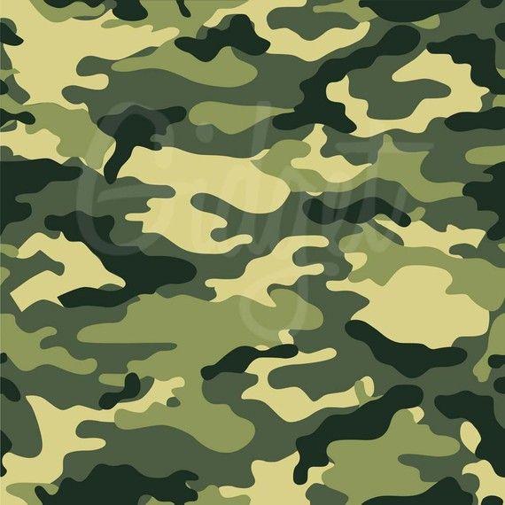 Paquete de papel Digital de camuflaje en verde azul marrón