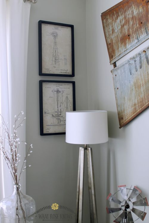 Add vintage flair to your home with replica patent prints! This blogger used black frames (instructions included in post) to add dimension to the space.