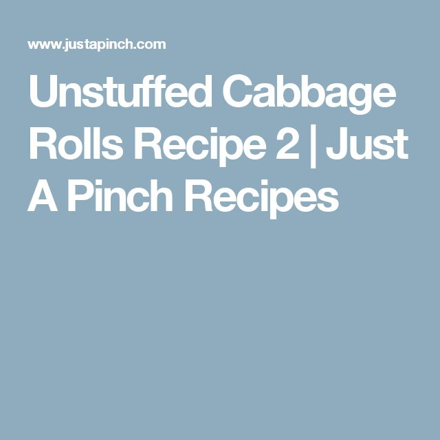 Unstuffed Cabbage Rolls Recipe 2 | Just A Pinch Recipes