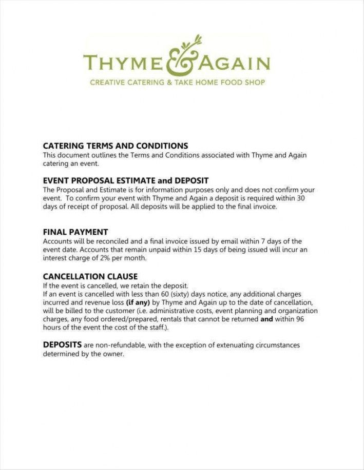 Catering Bid Proposal Template Business Proposal Template Proposal Templates Event Proposal