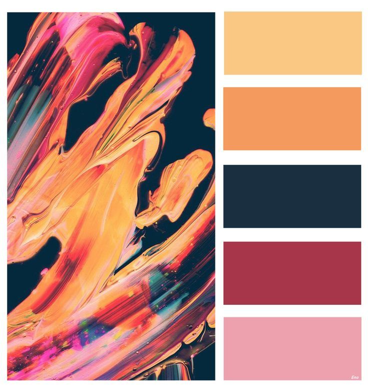 color palette with beautiful colors: pink. orange. red and dark blue | color schemes | colors | colo… | Red colour palette. Orange color schemes