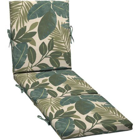Arden Outdoor Patio Chaise Replacement Cushion, Chelsea Jade, Multicolor