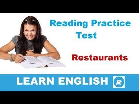 Restaurants – Elementary Reading & Listening Test