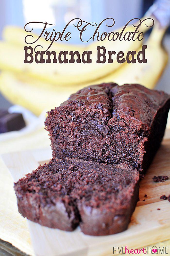 Triple Chocolate Banana Bread - mmmmmm!!! and then some more mmmm!! ♥