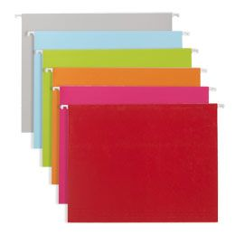 Letter-Size Hanging File Folders-colored