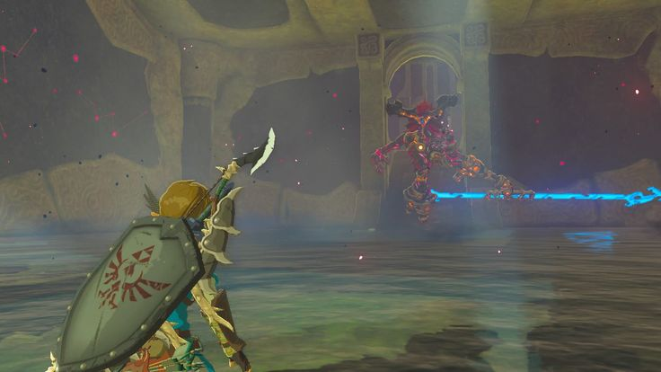 Link Facing Waterblight Ganon In Divine Beast Vah Ruta Unfortunately I Never Screenshotted Any Other Blight Ganons Legend Of Zelda Breath Of The Wild Beast
