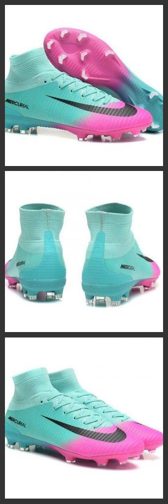 Nuove Scarpa da calcio Nike Mercurial Superfly V FG Rosa Blu Nero.La scarpa da calcio per terreni duri Nike Mercurial Superfly V - assicura la massima stabilità e un tocco di palla eccezionale. I tacchetti sono espressamente progettati per una trazione superiore sui campi in erba corta.