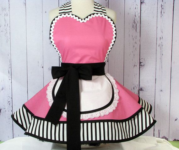 Little Cafe Waitress Apron by Dots Diner Made to by dottiesdiner