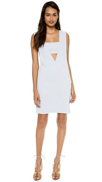 Alexander Wang Low V Neck Dress with Built-in Bandeau