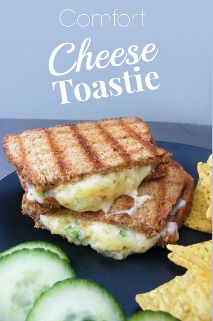 Comfort Cheese Toastie - There's a secret ingredient in this one that I never thought of adding to a toastie before. So good!