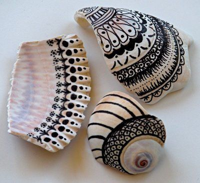 I'm doing this tonight with the shells in the backyard... although my mom would frown on bringing shells in the house (bad luck??)