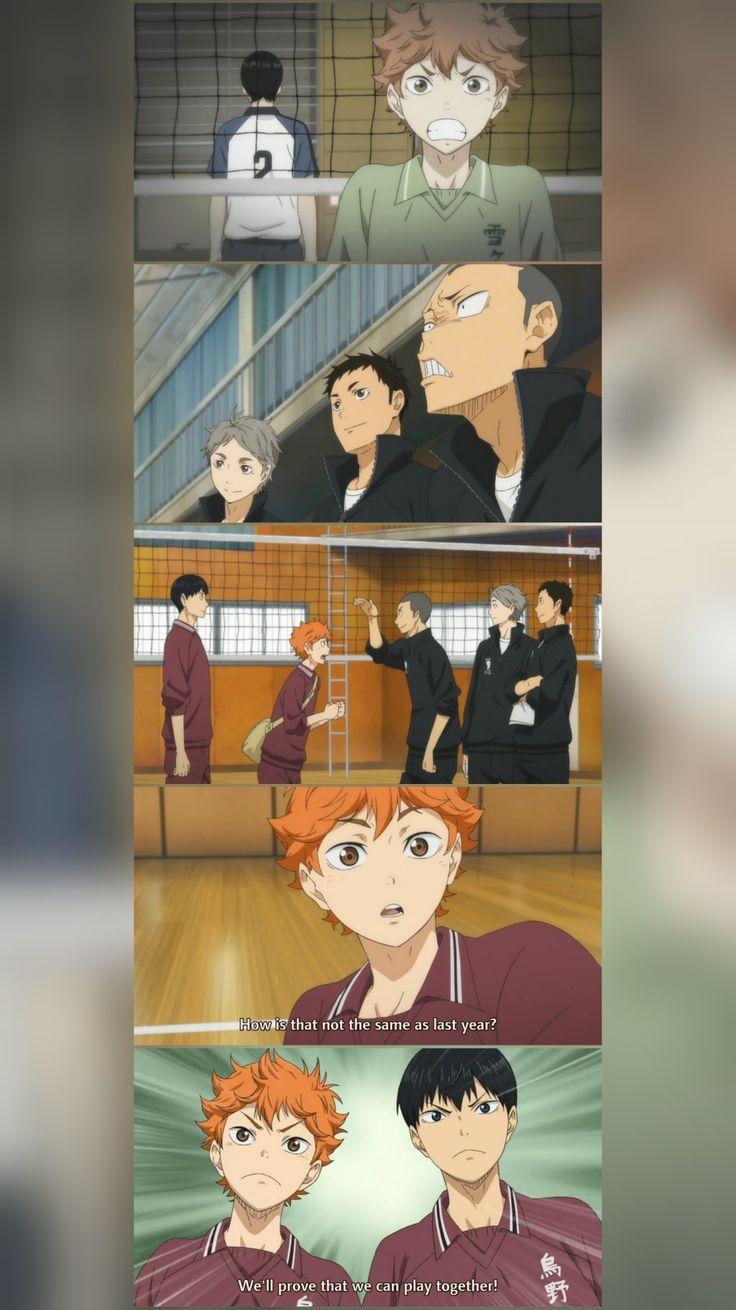 Karasuno high volley ball club in 2020 anime haikyuu