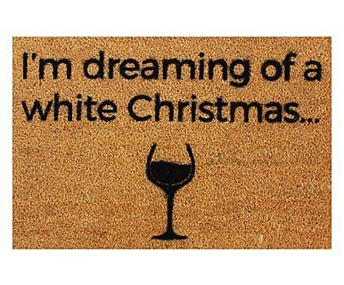 Zerbino in fibra di cocco White Wine Christmas, 60x40 cm