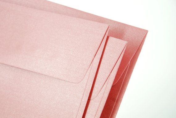 """A7 (5x7) Metallic Pink Envelopes - Perfect for 5""""x7"""" party invitation (pack of 10 or 20) on Etsy, $5.50"""