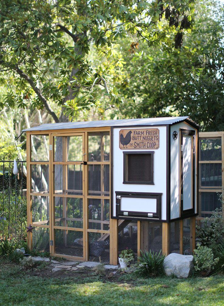 DIY backyard chicken coop  Read More: http://www.stylemepretty.com/living/2015/04/14/backyard-chicken-coop-with-tiffani-thiessen/