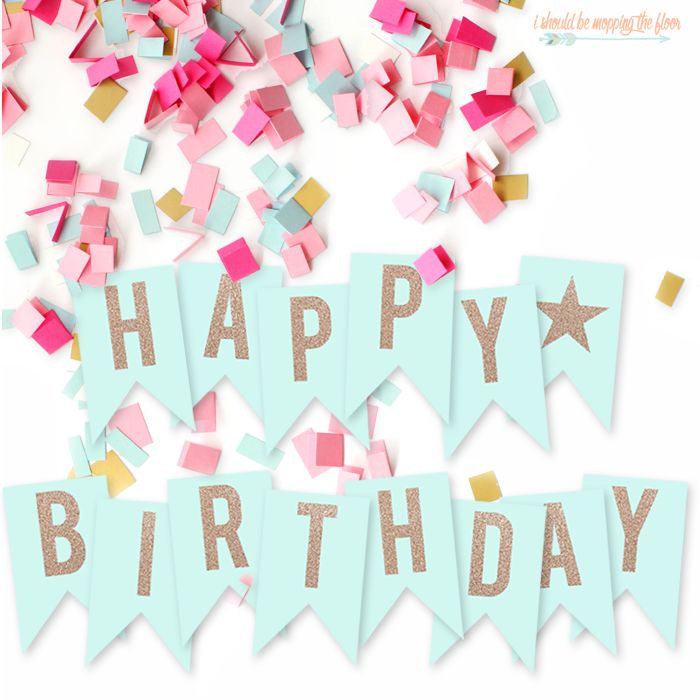 free printable happy birthday banner party decoration ideas