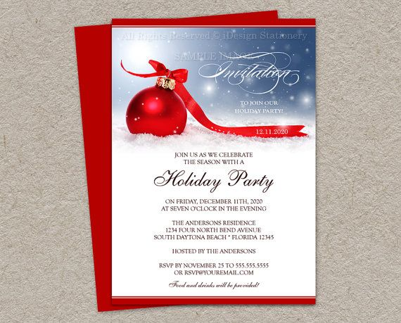 96 best Printable Christmas And Holiday Party Invitations images – Printable Christmas Party Invitation