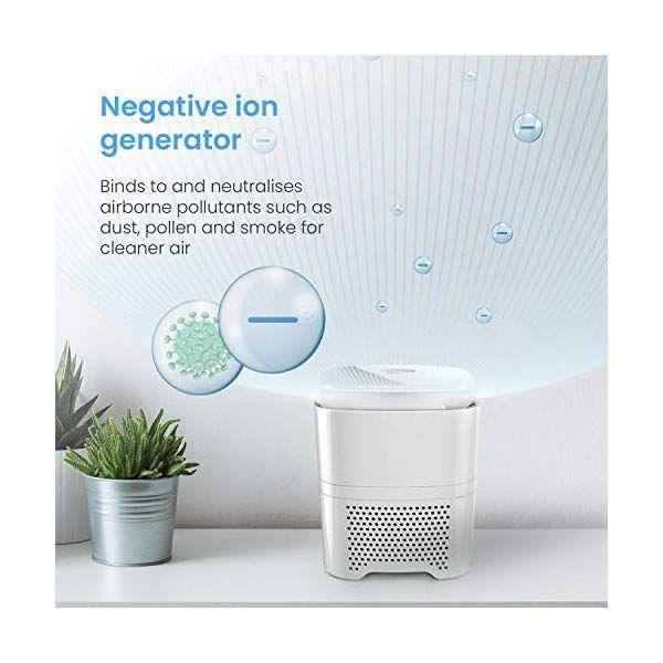 Air Cleaner Purifier Ionizer Hepa Fresh Filter Water Wash Ozone Generator Breeze
