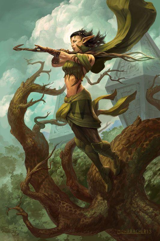 Nissa, Worldwaker by PeteMohrbacher on deviantART #elf #druid