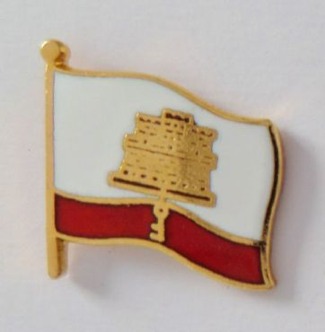 Gibraltar Flag Pin Badge - T831