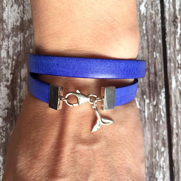Whale tale blue bracelet, dolphin leather bracelet, sterling silver blue leather wrap bracelet  • A personal favourite from my Etsy shop https://www.etsy.com/uk/listing/565467513/whale-tale-blue-bracelet-dolphin-leather