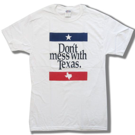 Don't Mess With Texas Souvenir T-Shirt  Unisex S  XL by MvpTshirt
